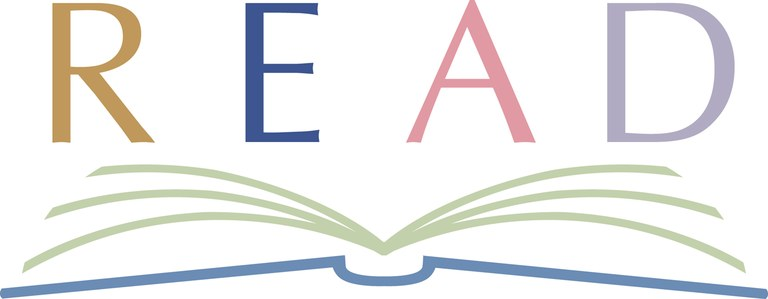 Read logo with open book