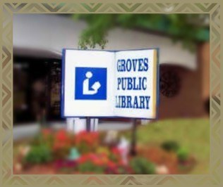 Library sign Friends