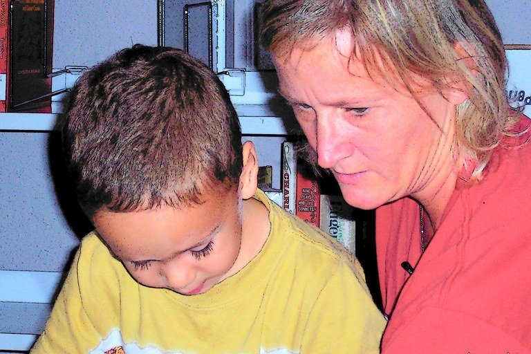 Cuddlebugs mom and son