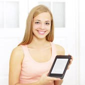 e reader and girl white background.jpg